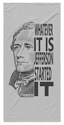 Hamilton and Jefferson Rivalry Beach (Jefferson Towel)