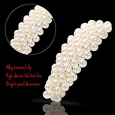 Yaomiao 16 Pieces Hair Barrettes, Hair Pins Decorative - Vintage Artificial Pearl Gold Alloy Barrettes Hair Clip - Women Lady Girls Fashion Sweet Side Clip Hairpin Hair Accessories for Wedding Bride