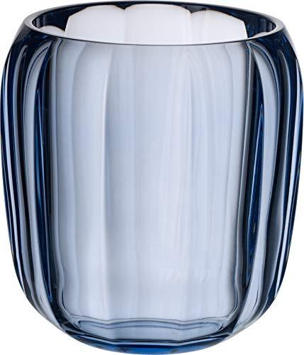 - Villeroy & Boch Hurricane Lamp, Crystal Glass, Transparent/Blue, One Size