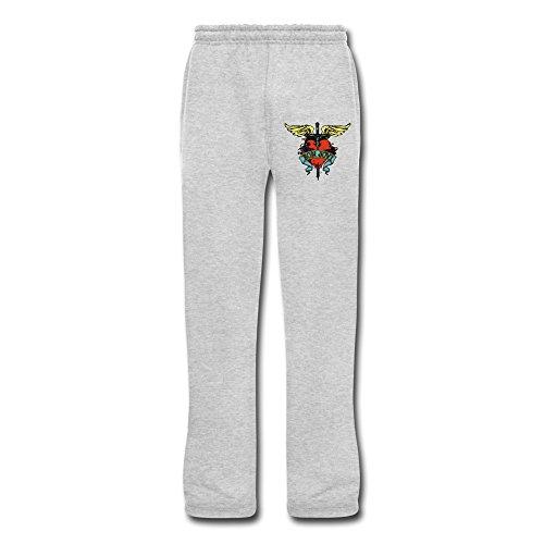 Gyku Mens Bon Jovi Bottom Sweatpants Ash Us Size 3X 100  Cotton