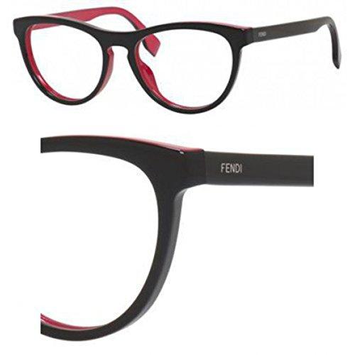 Fendi Montures de lunettes 0123 Pour Femme Black / Fuchsia MFQ: Black / Fuchsia