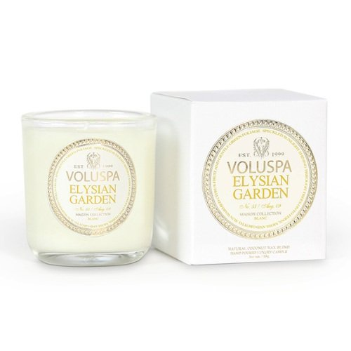 Voluspa Classic Boxed Votive, Elysian Garden, 3 oz