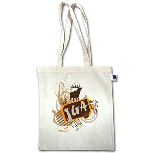 Jga Bachelor Party - Grunge Jga Deer - Unisize - Natural - Xt600 - Manico Lungo In Juta Bag