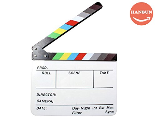 Acrylic Film - Chalkboards, Acrylic Clapboard Dry Erase Director Film Movie Clapper Board Slate 9.6