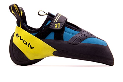 Evolv X1 Climbing Shoe - Men's Seafoam/Neon Yellow 9