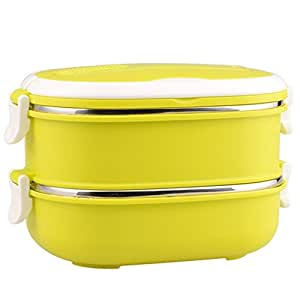 Mr.Dakai Stainless Steel Insulated Square Lunch Box for Children Kids and Adult Portable  sc 1 st  Amazon.com & Amazon.com: Mr.Dakai Stainless Steel Insulated Square Lunch Box for ...