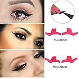 Eyeliner Template Stencil Models Professional Makeup New Wing Style Kitten Large Size Cat Eye Wing Eyeliner Stamps JBP-X