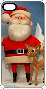 Classic Santa & Rudolph At Christmas Time Clear Plastic Case for Apple iPhone 4 or iPhone 4s