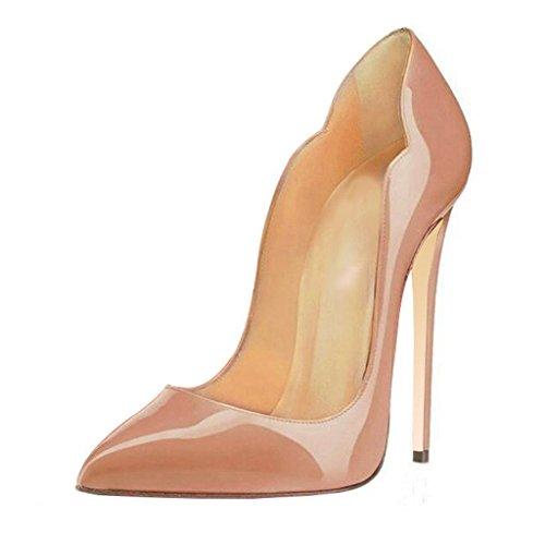 Femmes Ubeauty Chaussures Grande Rouge Soles Talon Laçage Aiguille Beige Escarpins Stiletto Taille 5AAwrHq
