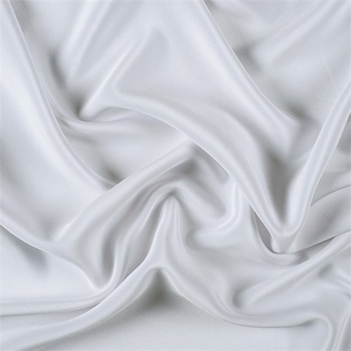 4 Ply Silk Fabric - White Silk 4 Ply Crepe, Fabric By the Yard