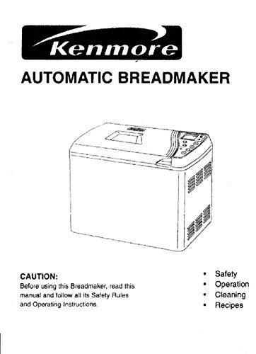 Kenmore Pan máquina eléctrica manual de instrucciones y recetas ...