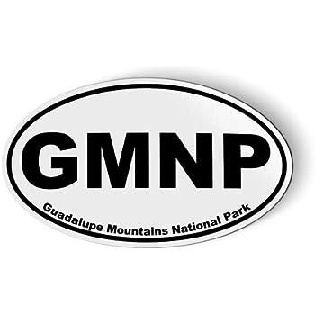 GMNP Guadalupe Mountains National Park Oval - Magnet for Car Fridge Locker - 3