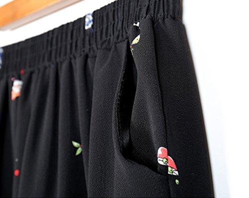Baggy Nove Donna Size Pantaloni Yoga Vita Pantaloni Plus Nero Tazza Casual Larghi Al Elastico Polpaccio Alta Harem Punti Vita YuanDian fqtZvxdzwf