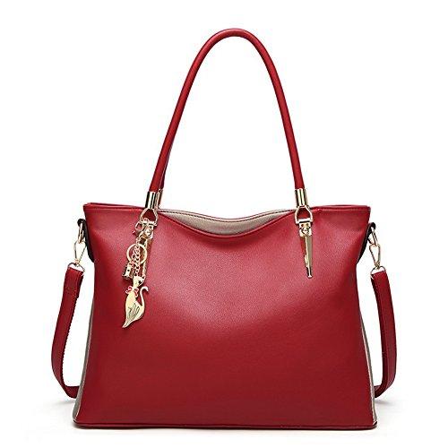 Bandoulière sacs Dacron Top Femme Mode handle Aalardom Orné Main Sacs Rouge À aH7xqZw