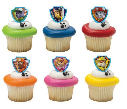 [DecoPac Paw Patrol Ruff Ruff Rescue Cupcake Rings, Pack of 24 Assorted Rings] (Cupcake Rings Birthday Cake)