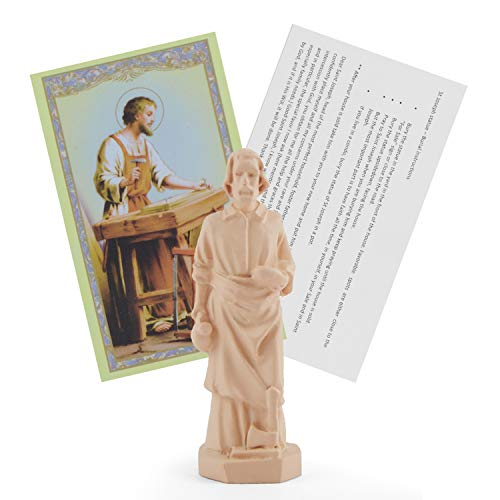 LITTLE SIENA Saint Joseph Statue Home Seller House Selling Kit with Instrutions and Prayer Card (St Joseph Prayer To Sell My House)
