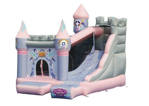 KIDWISE Princess Enchanted Castle Bounce House Bouncer with Slide by KidWise Outdoor Products, Inc.