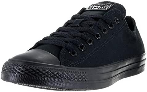Converse Unisex Chuck Taylor All Star Low Top Black Monochrome Sneakers - 12 B(M) US