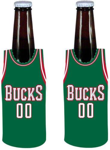 Kolder NBA Milwaukee Bucks Bottle Jersey, One Size, Multicolor