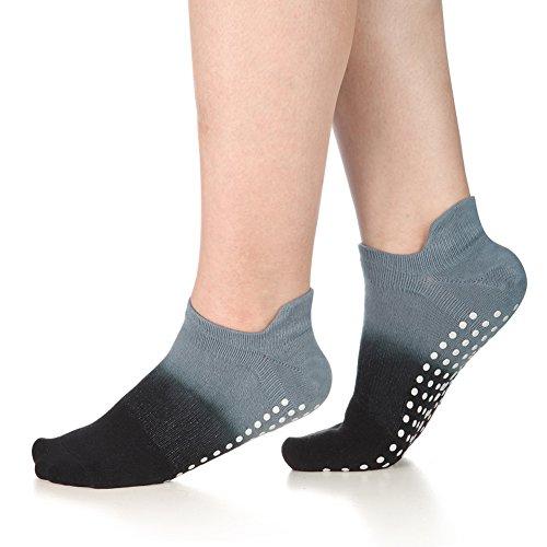 CozTake Grip Socks for Yoga Pilates Barre Dance Ombre Dyed Non Slip Socks Women Grey For Sale