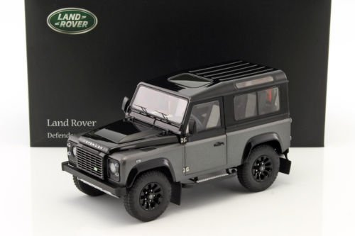Defender 90 Land Rover (NEW 1:18 W/B KYOSHO COLLECTION - GREY 2015 LAND ROVER DEFENDER 90 Diecast Model Car By KYOSHO)