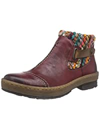 Rieker Womens Z6784-35 Boots Red