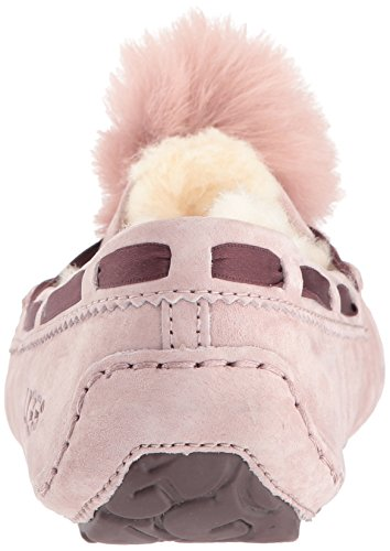 UGG DAKOTA POM POM Ladies Moccasin Slippers Chestnut Pink gzdwT7