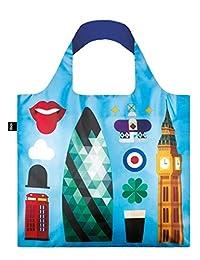 LOQI Hey.LO Hey London Print Reusable Tote Bag, Multi, International Carry-On