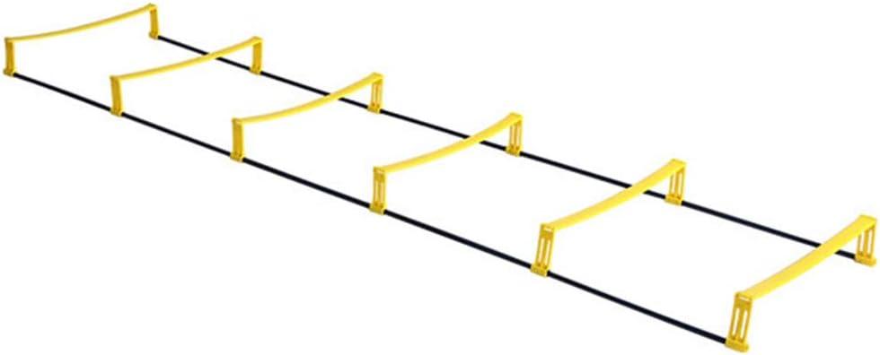 GJQDDP Escalera de Agilidad, Entrenamiento de Velocidad de fútbol Escalera de Agilidad de Doble propósito, Escalera de Cuerda con obstáculos,2.3m6 Slices: Amazon.es: Hogar