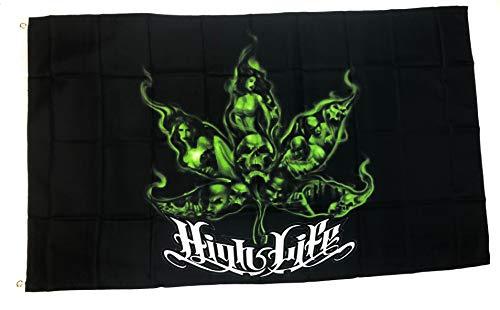 Redhat High Life Pot Leaf 3' x 5' Indoor/Outdoor Flag