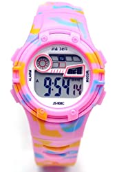 Sinceda Girl's Multi Function Luminous LCD Digital Sport Watch Camouflage Strap