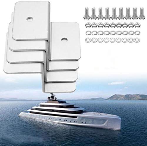smallJUN 4Pcs Z Stil Solarpaneelmontage-Kits Solarpanel Z Halterung Montageset RV Boot außerhalb des Netzes Solar Panel Silber
