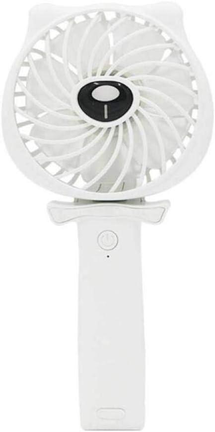QWE Ventilador Eléctrico, Mini Ventilador de Mano, USB de Dibujos ...