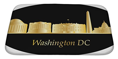 Gear New Memory Foam Bath Rug, Washington American City Skyline, 34x21, - Mall Place Directions Carolina