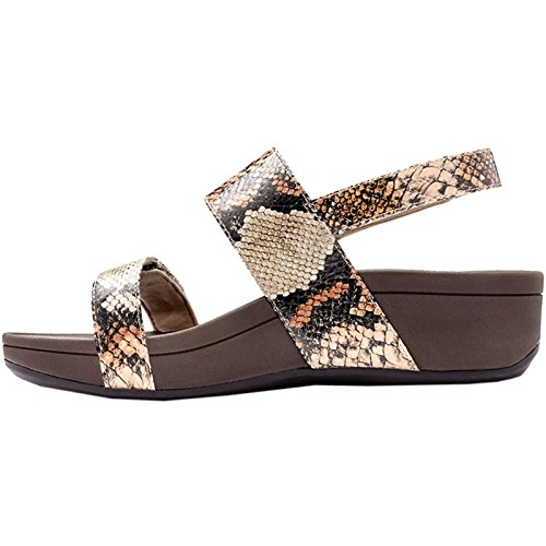 382 Vionic Sandals Snake Pacific Tan Leather Womens Bolinas pUgwRq