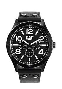 CAT NI.169.34.131 - Reloj analógico de cuarzo para hombre, correa de cuero color negro