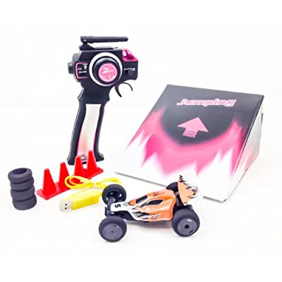 Remote Control Car Buggy 2.4 Ghz High Speed 1/32 Scale Electric car with 4 Cones and ramp (Color varied): Toys & Games