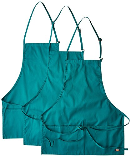 Dickies Chef  3 Pack Three Pocket Adjustable Bib Apron, Hunter, One Size