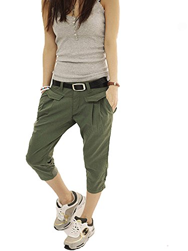 Small-shop Casual Harem Female Women Cotton Loose Individuality Women,Army Green,XXL by Small-shop