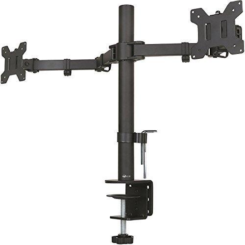 WALI doble soporte de escritorio para Monitor LCD totalmente ajustable 10-27 pulgadas puede guardar dos pantallas, movimiento...