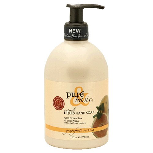 Pure & Basic Liquid Hand Soap, Natural, Grapefruit Verbena, 12.5-Ounces  (Pack of 3) - Basic Grapefruit Verbena Natural