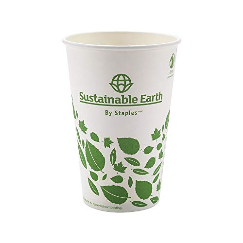 (Sustainable Earth 905199 Hot Cups 16 Oz. White 300/Ct (Seb28991))