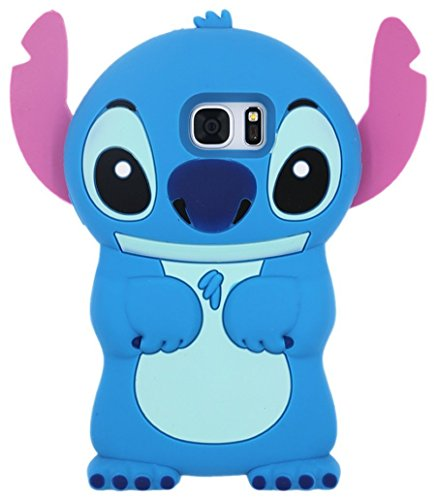 Soft Silicone Phone Case for Samsung Galaxy S8 3D Cartoon Flexible Rubber Shock Drop Resistant Protective Shockproof Thick Cute Lovely Hot Gift Kids Teens Girls (Stitch)