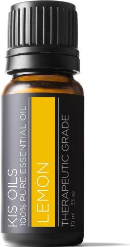 Lemon 100% Pure Undiluted Essential Oil Therapeutic Grade- 10ml (Lemon, 10ml)