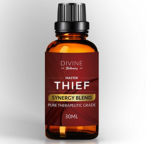 - Master Thief Synergy Blend Essential Oils 30 ml Pure Natural Germ Fighter Undiluted Therapeutic Grade Best Health Shield - Clove Cinnamon Lemon Rosemary Eucalyptus