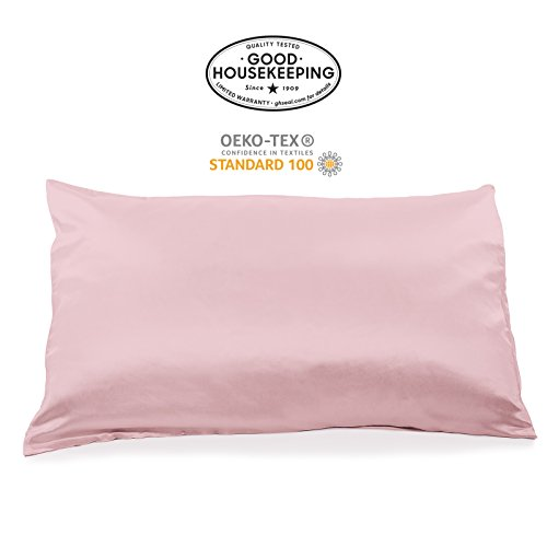Fishers Finery 19mm 100% Pure Mulberry Silk PillowcaseGood Housekeeping Quality Tested (English Rose, Q)