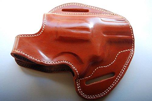 Cal38T6 Taurus 605 357 Magnum Snub Nose Revolver Leather Belt Custom Holster (TAN)