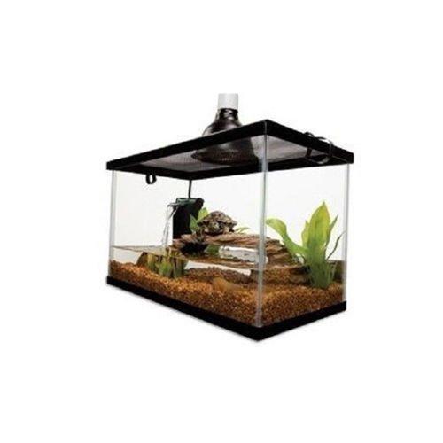 10 Gallon Aquarium Starter Kit Fish Reptile Turtle Habitat Tank Filter Lamp Lid
