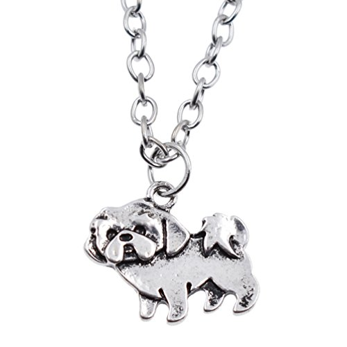 BetterUS Shih Tzu Charm Necklace Shihtzu Pet Dog Lover Gift
