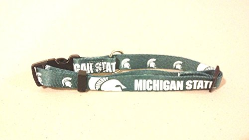 Michigan State Spartans Adjustable Pet Dog Collar All Sizes (Large)